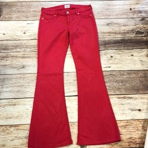 Hudson Red Mia 5 Pocket Flare Red EUC